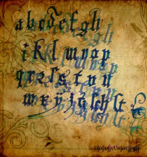 Calligraphy - The Gothic Art Calligraphers Ink